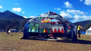 Repurposed Umbrella Hut