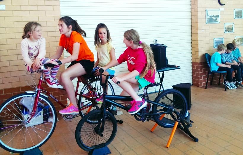 girls bicycle power music