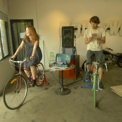 Bike power at skunkworks artspace