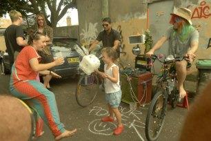 Bike power dancing child bike generators party