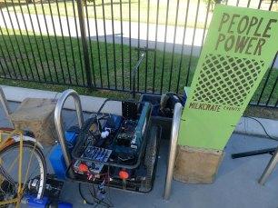 bike power people set up generator