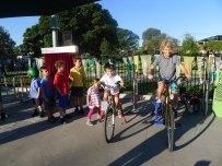 bicycle generator people power kids on bikes