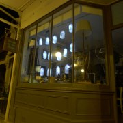 drunk on the moon window milk bottle lights milkcrate events