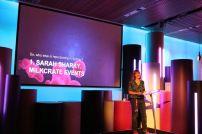 Sharky speaking at MCA Vivid Green Ups Milkcrate Events