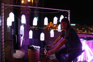 Sharky's bike powered milk bottles