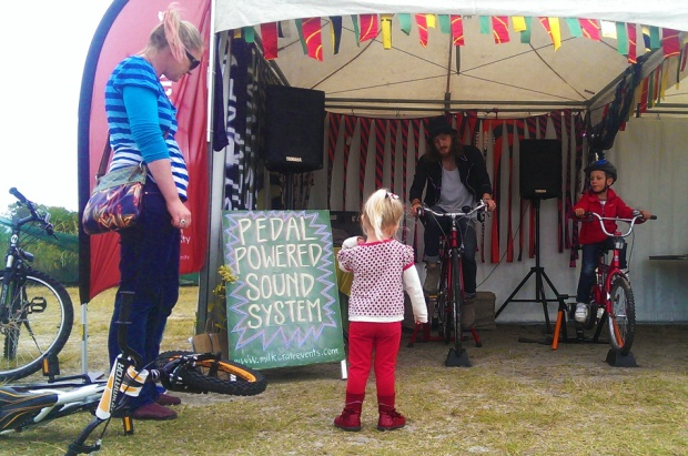 kids pedal power the sound system