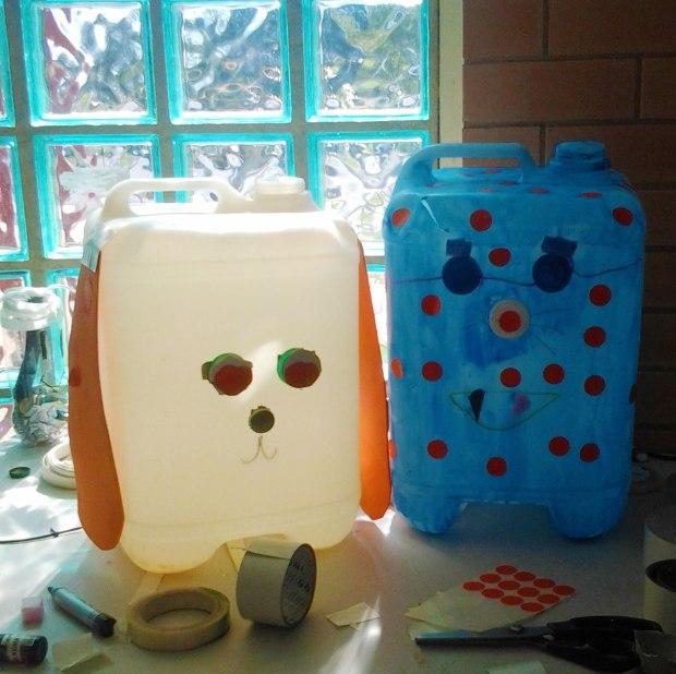reuse art plastic drum