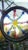 bottle lid bike tyre art