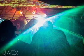 lazers at Regrowth festival
