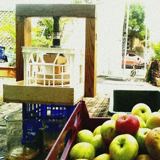 apple press diy milk crate