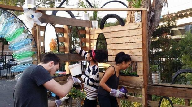 Milkcrate Events pallet courtyard blacktown pop up garden