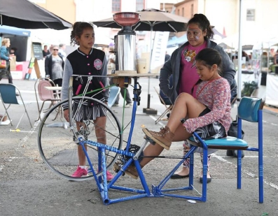 The bicycle foffee grinder
